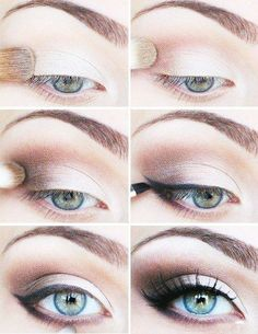 smoky brown eyeshadow