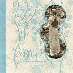 Digital scrapbooking layout created with the Art Journaling Project No.5 by Sunshine Inspired Designs.