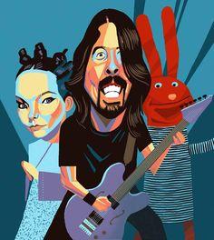 Lollapalooza in Chile by Francisco Javier Olea Recital, Woodstock, Punk Rock, Rap, Musical, Festival Lollapalooza, Chile, Illustration, Artist