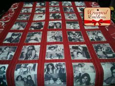 Wrap yourself with Memories- Quilt with Pictures