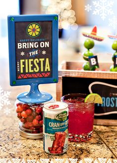 Holiday Fiesta Party Ideas {Eat, Drink, and Be Cran Brrr Rita!} + Free Printables