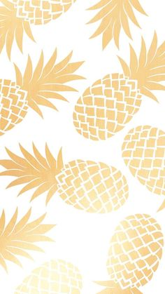 Metallic Gold Pineapple Background