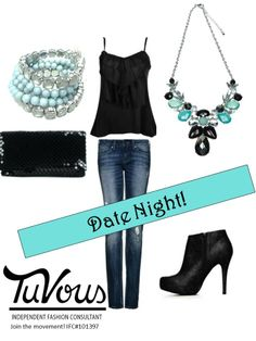 Headed out for date night?  Throw on a couple of statement TuVous pieces with that simple black tank and WOW!  www.facebook.com/SirenAccessories