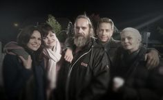 The cast of OnceABC meets Odin, eagleegilsson jenmorrisonlive, LanaParrilla #ginnifergoodwin