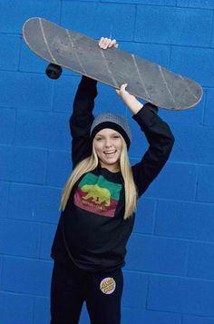 Modeling for Santa Cruz Clothing Co #model#misssantacruz#skatergirl