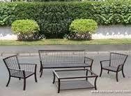 Resultado De Imagen Para Muebles Para Terraza En Fierro Forjado Chile Muebles Terraza Patios Muebles Para Patio