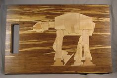Star Wars At-at Walker Inlay Art/cutting Board