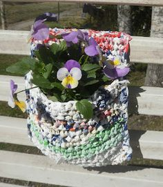 The world according to Ági: Plarn crochet projects