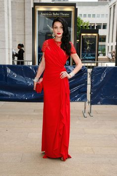 Red lace is still the rage. Jessica Stam Pictures - American Ballet Theatre's 2012 Gala - Zimbio