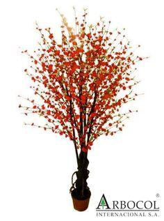 Arbol de durazno flores rojas 17293  $683850    2.10 mts alto x 1.10 cms ancho