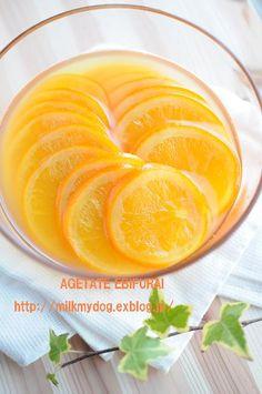 オレンジスライスシロップ漬け♪ : 揚げたてエビフライ♪