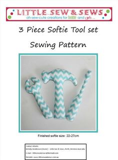 PDF Sewing Pattern Softie Tool Set Baby Todder Toy - includes photo tutorial - electronic file