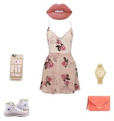 """""""Untitled #171"""" by gracee0823 on Polyvore featuring Lipsy, Converse, Casetify, Michael Kors and Lime Crime"""