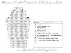 Casaquinho em crochet (gráfico da manga). www.falandodecrochet.blogspot.com