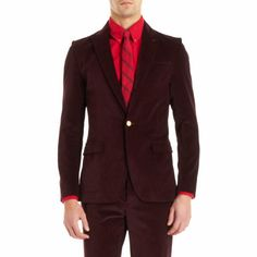Corduroy suit by Band of Outsiders.