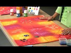 Pebeo Setacolor Transparent Fabric Paint - YouTube