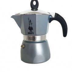 Bialetti หม้อต้ม กาแฟ moka pot รุ่น moka Dama ขนาด3 Cup สีเทา (grey)(3 cup) moka pot - คลิกที่นี่เพื่อดูรูปภาพใหญ่