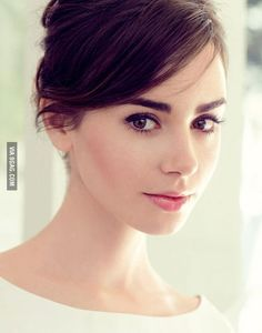 Lily Collins - she looks a little like Audrey in this photo.
