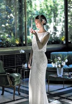 Embroidered dress, Jenny Packham Bride, like the hair clip. Fulvio Maiani, St … - How To Fashion Boho Wedding, Wedding Gowns, Dream Wedding, Art Deco Wedding Dress, Bridal Dresses, Bridesmaid Dresses, Dream Dress, Bridal Collection, Pretty Dresses