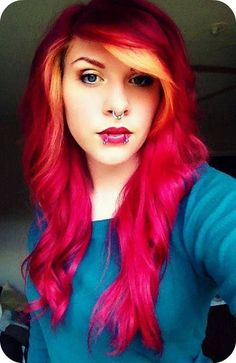 Colorful Hairstyles colorful hair 2 Colored Hairstyles Orange To Hot Pink Ombre I Wish I Were Independently Wealthy And Didn