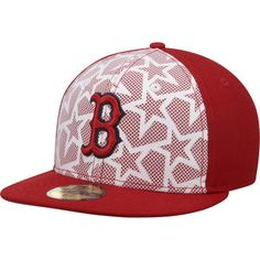 Boston Red Sox New Era Stars   Stripes 59FIFTY Fitted Hat - White Red  Baseball 16dadc97161