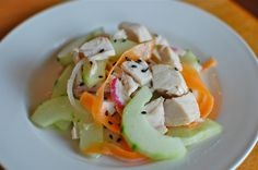 Chicken Cucumber Salad. Enjoy this light and refreshing meal any summer day.