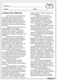 SOS PROFESSOR-ATIVIDADES: A moça das pérolas