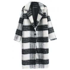 Notched Lapel Long Sleeve Plaid Single Breasted Coat (3.280 RUB) ❤ liked on Polyvore featuring outerwear, coats, beautifulhalo, plaid coat, single breasted coat, long sleeve coat and tartan coat