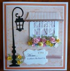 Beautiful card using lamppost magnolia die. Love it!
