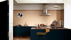Flexa / Dulux Let light in - Think palette using Spiced Honey Kitchen Interior, Kitchen Decor, Kitchen Design, Kitchen Walls, Decorating Kitchen, Kitchen Counters, Decorating Small Spaces, Interior Decorating, Interior Design
