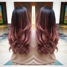 Rose pink ombré / dip dye