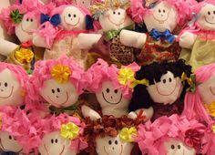 Nossas primeiras 40 Bonecas de Pano para as crianças do Sertão de Manari em Pernambuco Dolls for donation