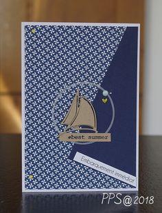 Jeu de l'été Scrapbooking, Scrapbook Cards, Small Sailboats, Men's Cards, Art Cards, Masculine Cards, Fathers Day, Birthday Cards, Road Trip