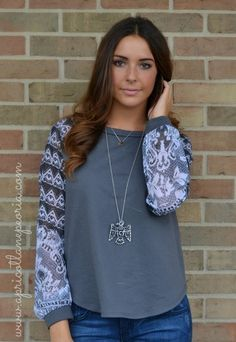 Lace Sleeve, $24.00 Also available at our Normal, IL location