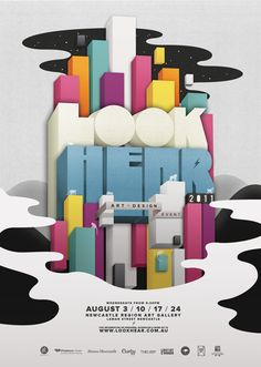 Poster Design #3D #perspective #type