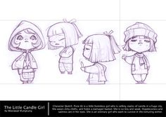 Little Candle Girl Sketches by Weerawat Munkung
