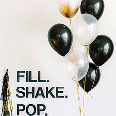 Gold Dipped Balloons Add some sophistication to your party balloons by dipping them in gold. Get white or black latex balloons inflated with helium (your…