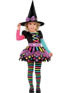 Toddler Girls Miss Matched Witch Costume