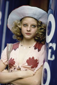 Jodie Foster photographed by Steve Schapiro during the filming of Taxi Driver