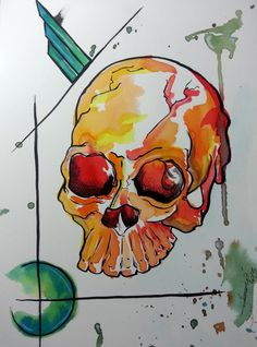 #skull #watercolor