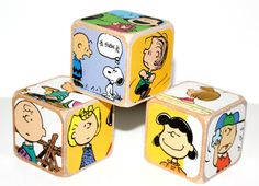 Charlie Brown Peanuts Children's Wooden Baby by Booksonblocks, $14.00