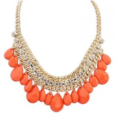 Buy Charming Droplet Short Chain For Girls with cheap price!