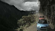 The Mitsubishi Outlander is Driven Through the World's Deadliest Road #advertising #ads trendhunter.com