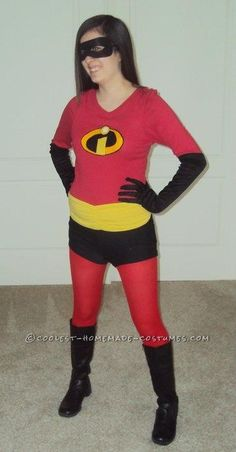 Coolest Homemade Violet (from The Incredibles) Costume... This website is the Pinterest of costumes