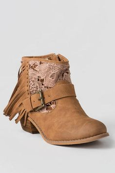 Black .. Faux Suede Lace Up Girls Wedge Heels Kids Ankle Boots ...
