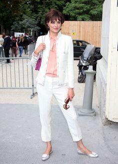 ines de la fressange style | ... fashion show in paris in this photo ines de la fressange ines de la