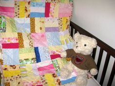 Colorful soft - Sew special handmade baby quilts created to help Moms and Dads cradle their child, hold them close, and keep them warm.