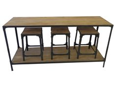 Meubles fonctionnels on pinterest consoles cuisine and s 2 for Table et tabouret bar
