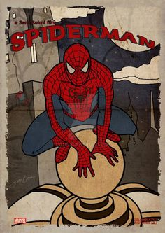 Spiderman Vintage Poster by GTR26 on DeviantArt Spiderman Poster, Avengers Poster, Room Posters, Poster Wall, Photo Wall Collage, Picture Wall, Predator Cosplay, Marvel Room, Marvel Wallpaper