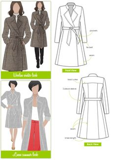 Stella Coat Sewing Pattern By Style Arc